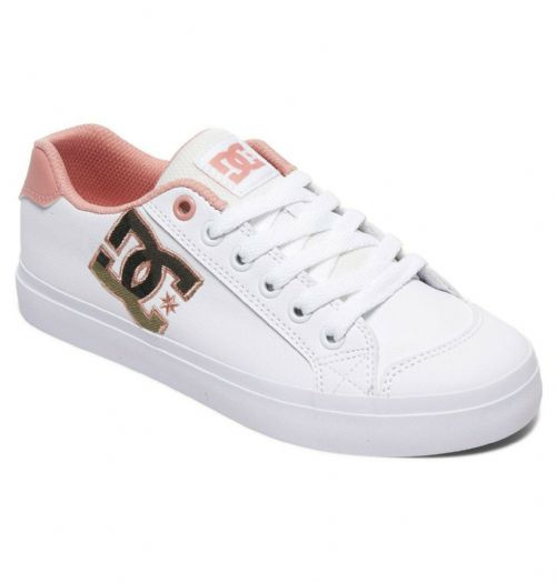 DC SHOES WOMENS CHELSEA PLUS SE TRAINERS.NEW BOXED WHITE PINK SKATE SHOES S20 35